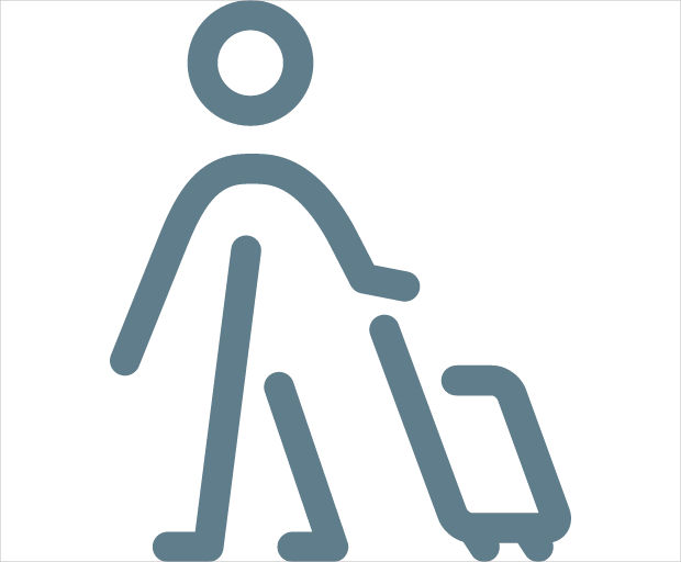 Man with Suitcase Icon