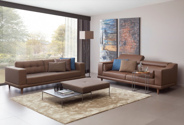 living room leather sofa idea