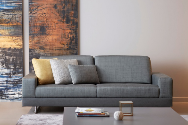 gray italian living room sofa