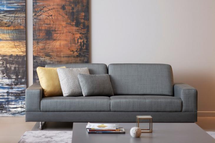Gray Italian Living Room Sofa