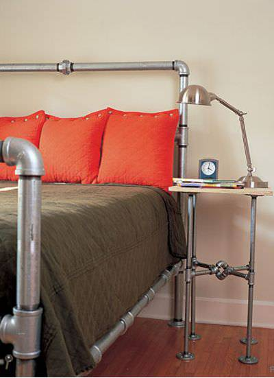 Bed Room Pipe Lamp Design