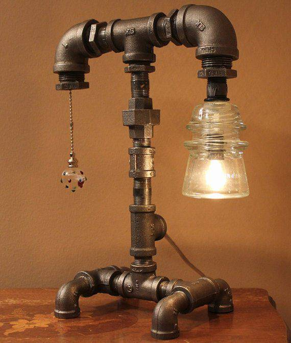 Pipe Iron Lamp Design