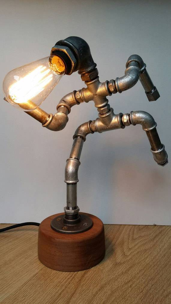 Running Man Pipe Lamp Design