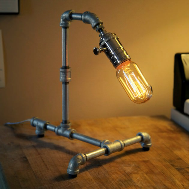 Small Pipe Lamp Design