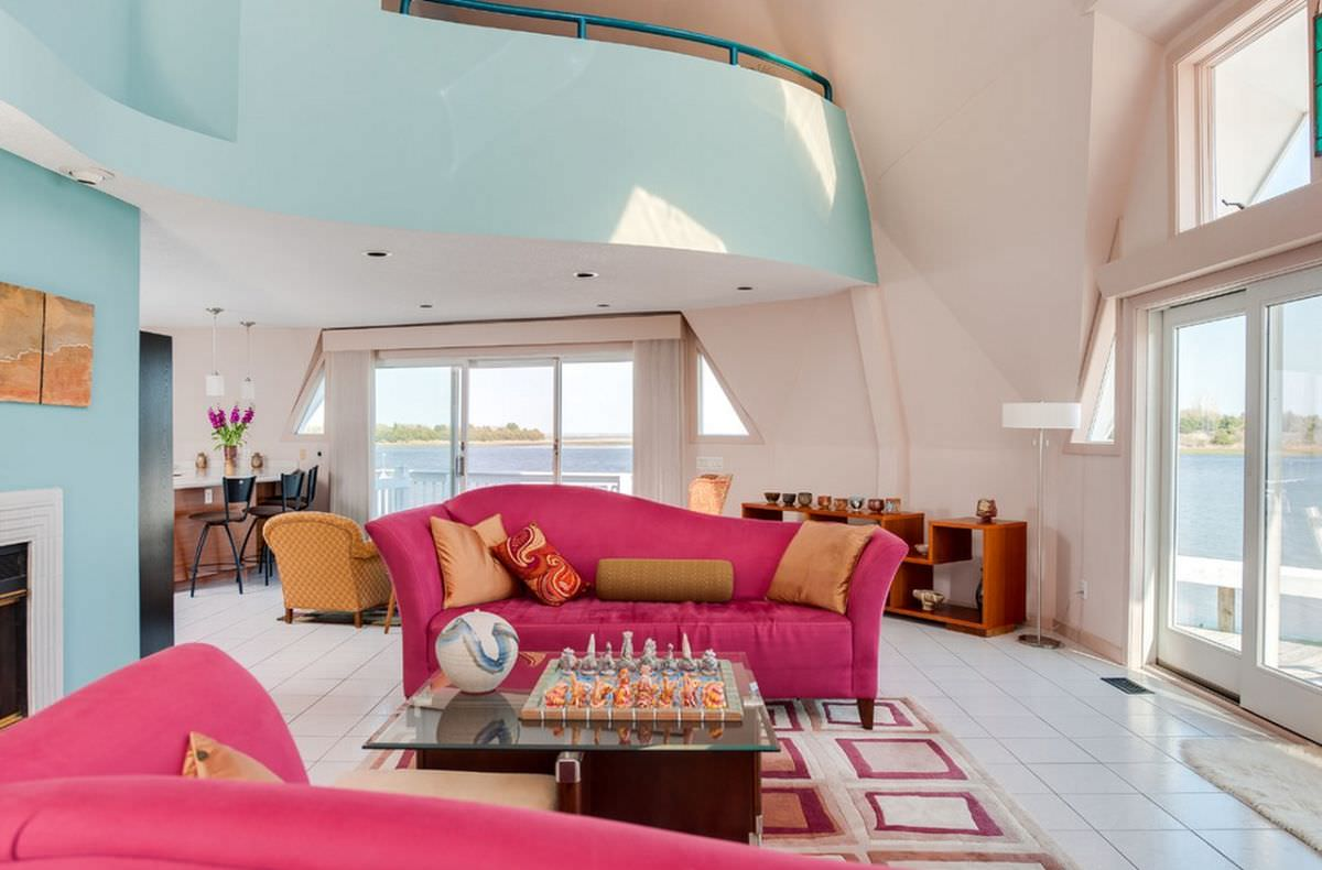 Pink Sofa Living Room Designs Design Trends