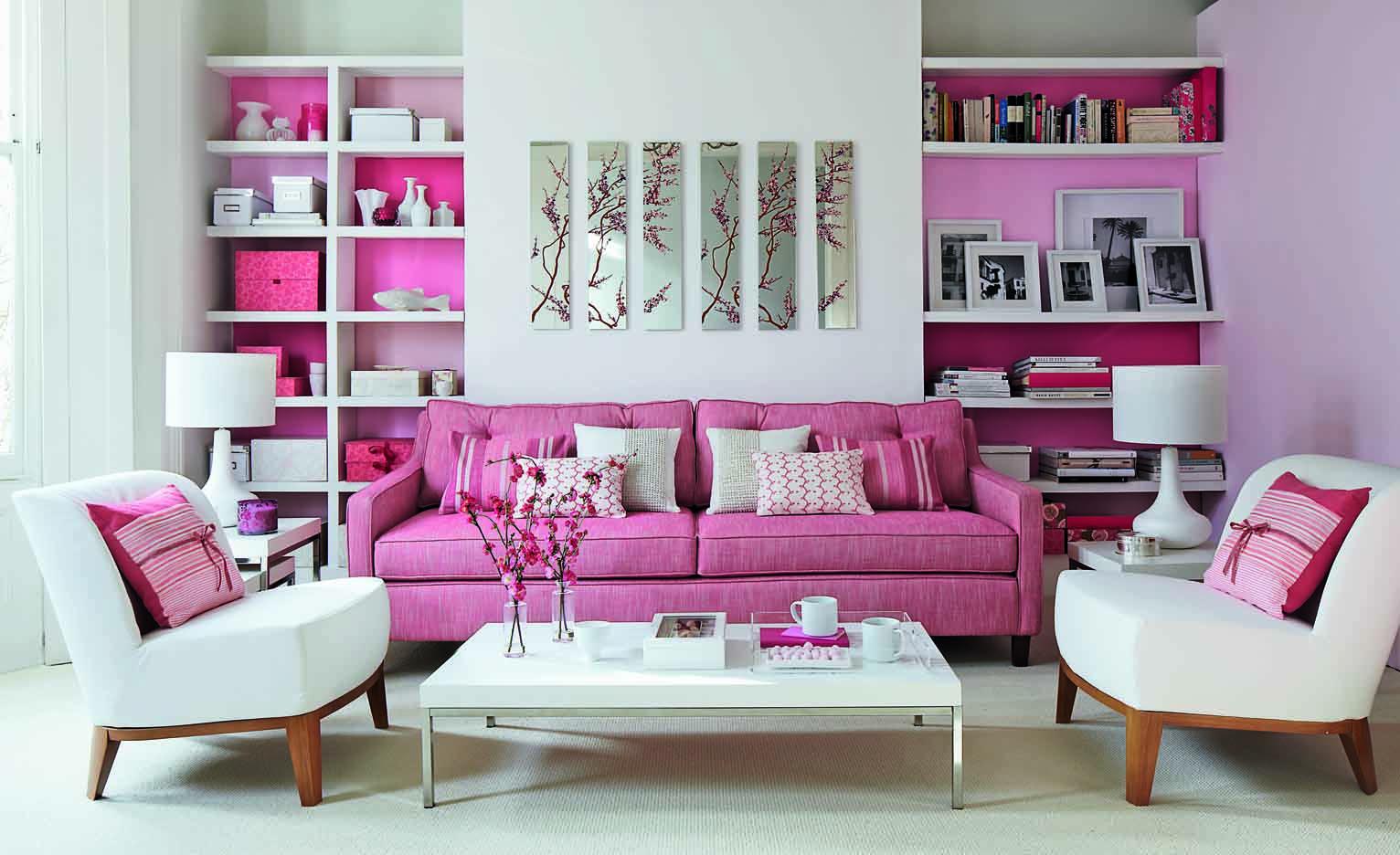 - Pink Living Room Furniture