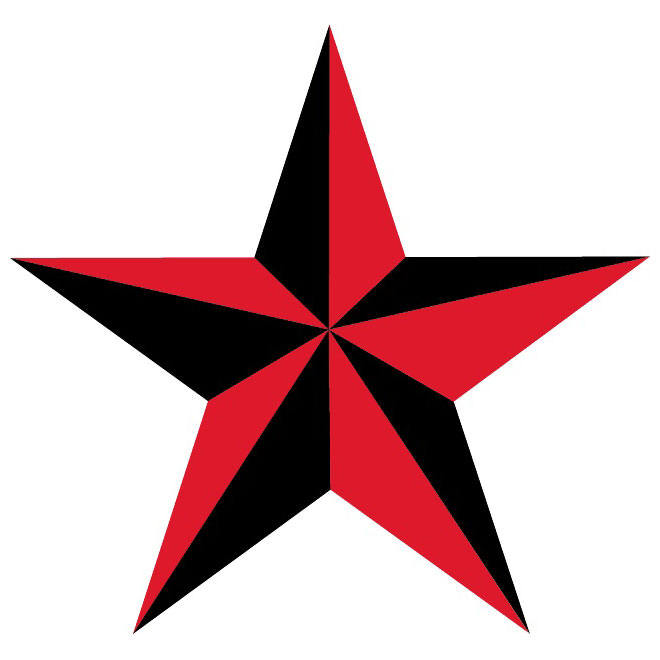 Star Vectors,Red,Black