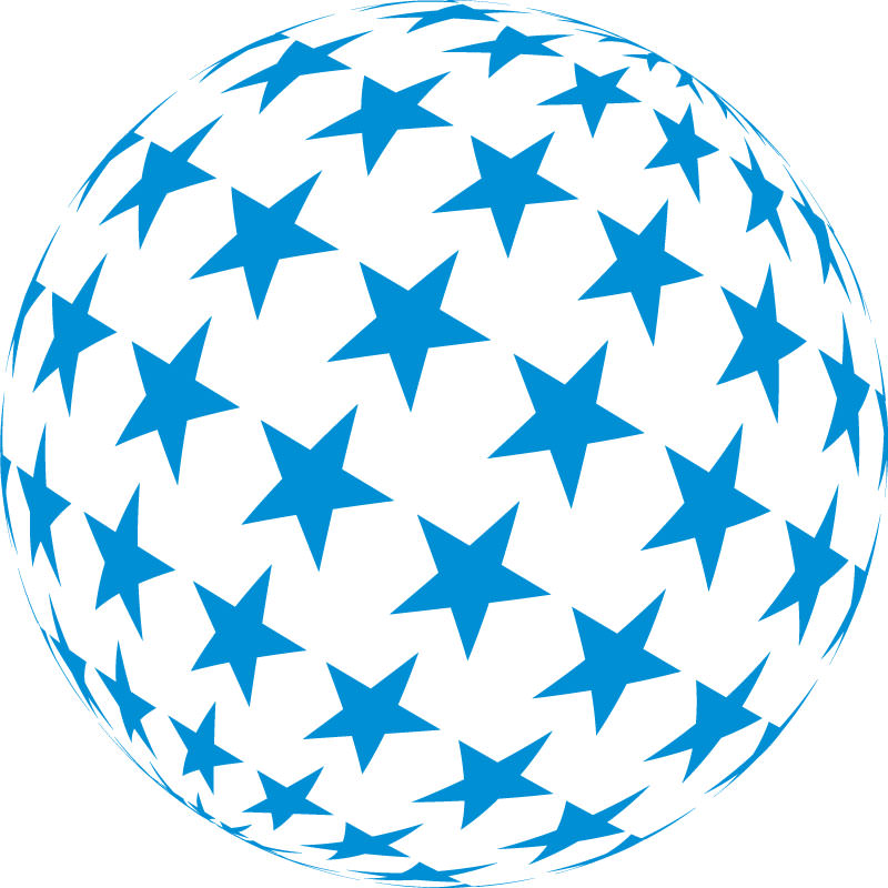 Star Vectors,Globe,Blue
