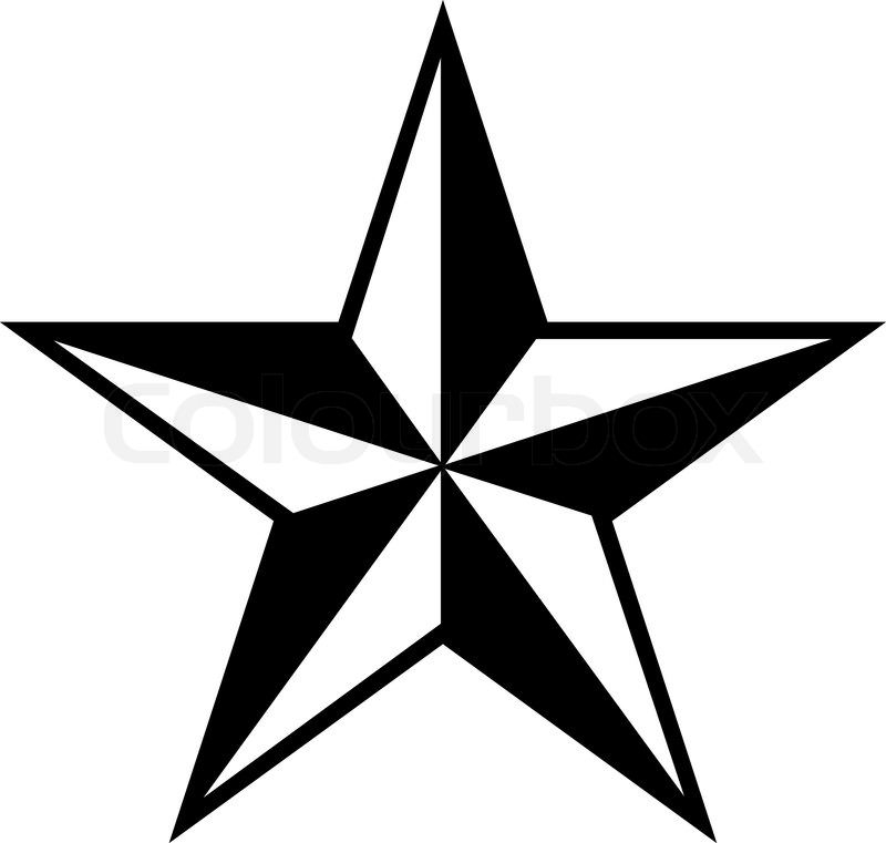 Star Vectors ,Black,White