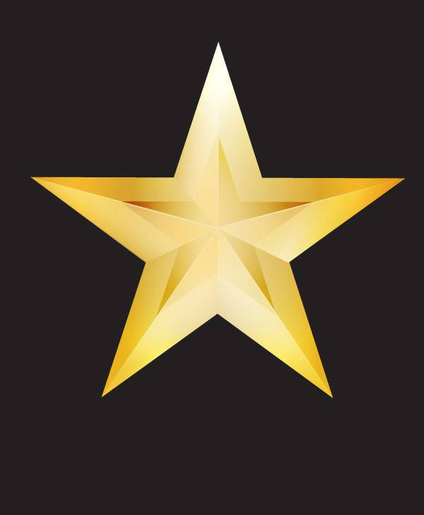 Star Vectors ,Golden Star