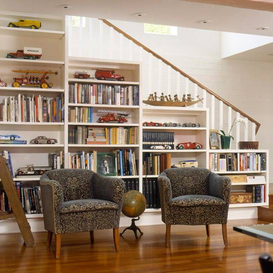 Living Room Staircase Designs for Small Spaces