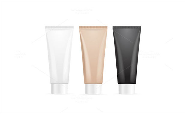 Plain Tube For Cream Mockup Designs