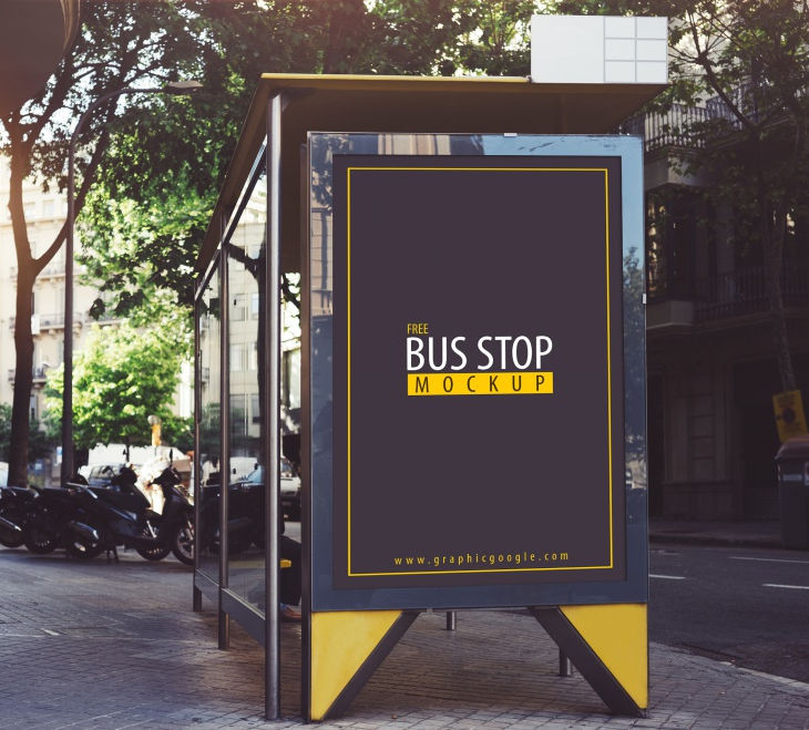 Busstop Mockup Free Download