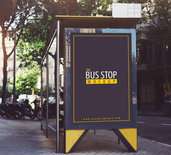 busstop mockup free download