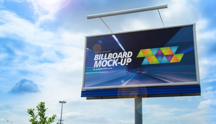 Cool Billboard PSD Mockup