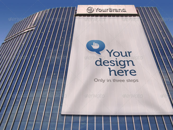 Giant Billboard Advertising Banner Mockup