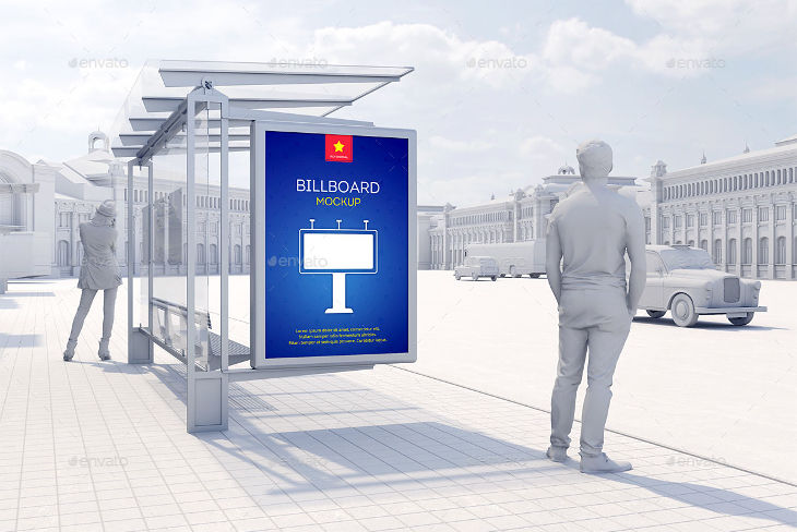 modern realistic billboard mockup