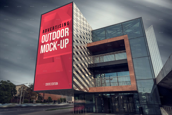Animated Advertising Outdoor Mockup
