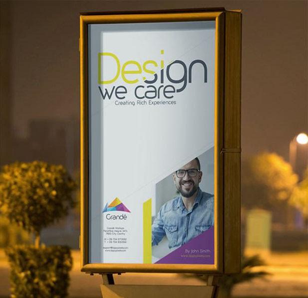outdoor billboard mockup design1