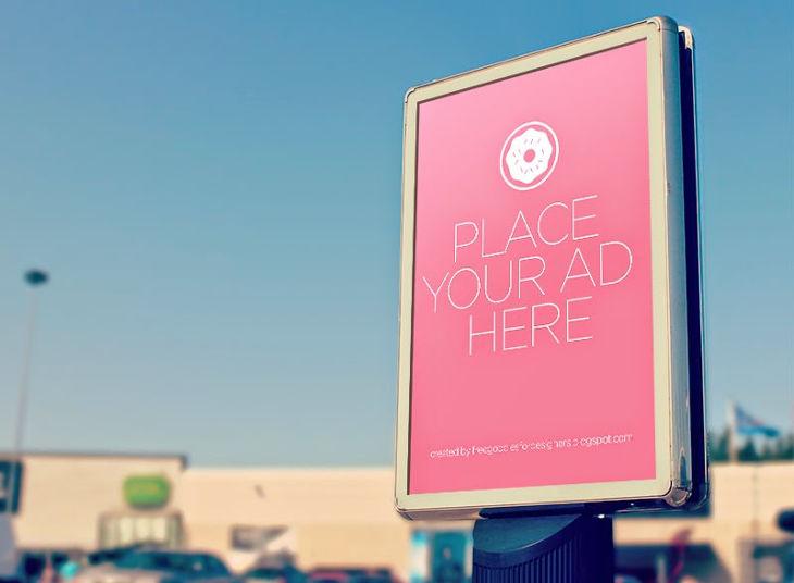 mobile billboard branding mockup design
