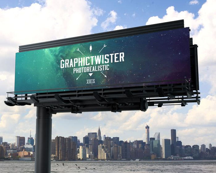 25  outdoor advertising mockup designs