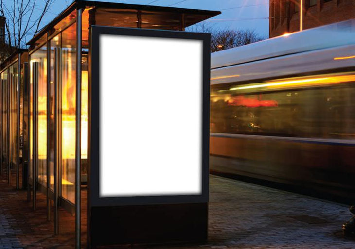 Bus Stop Branding Billboard Mockup Design