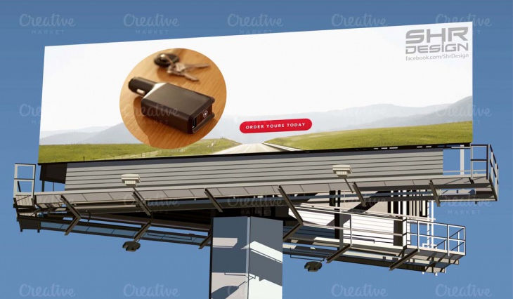 Outdoor Billboard Signage Mockup