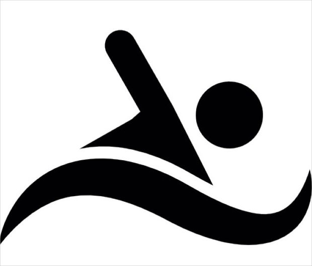 Silhouette of a Swimming Person