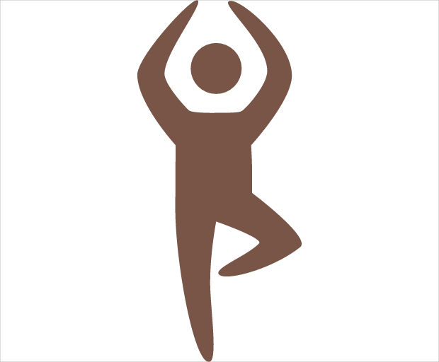 yoga position icon