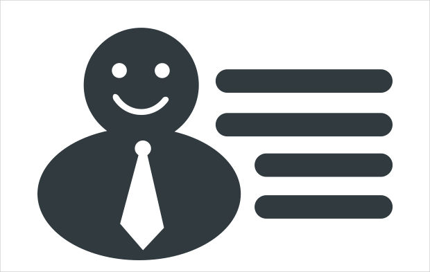 businessman description icon