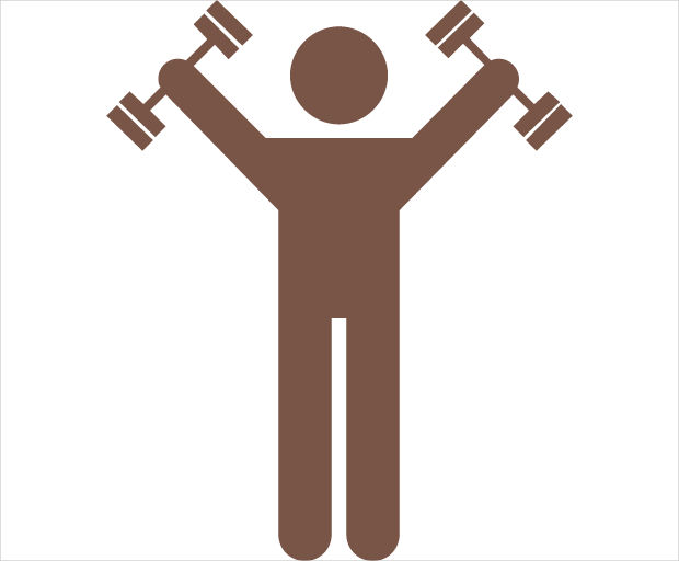 Man Lifting Weighs Icon