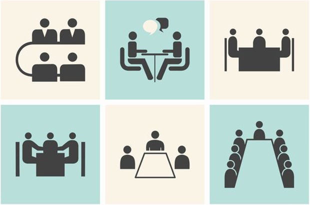 business meeting icon set1