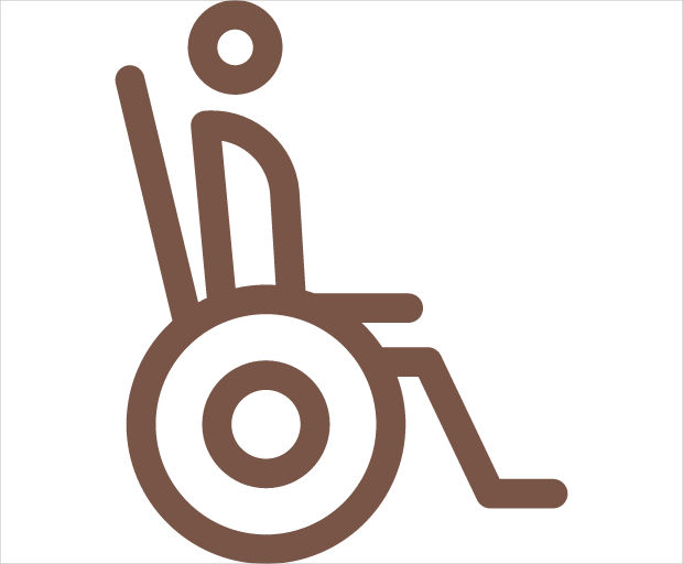 Person in Wheel Chair Icon