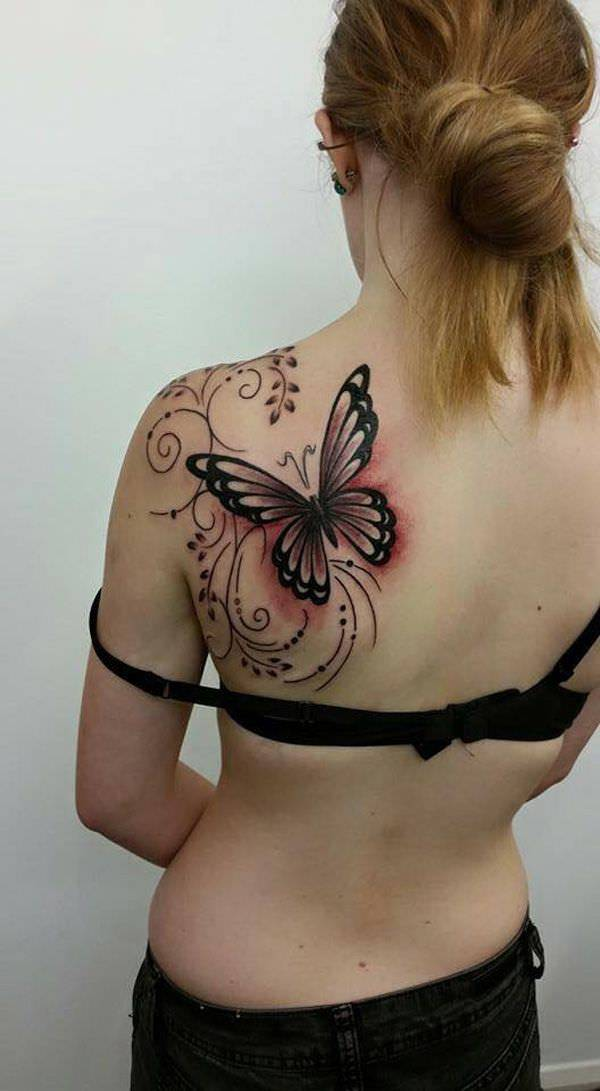 Traditional,Butterfly Tattoo,Designs