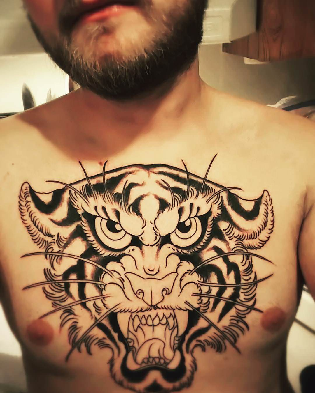 Traditional,Tiger Tattoo,Designs