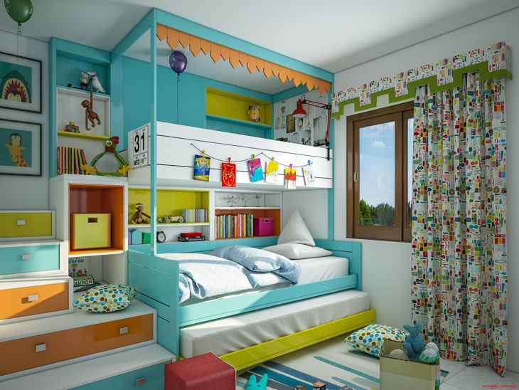 Kids Loft Bunk Bed Idea