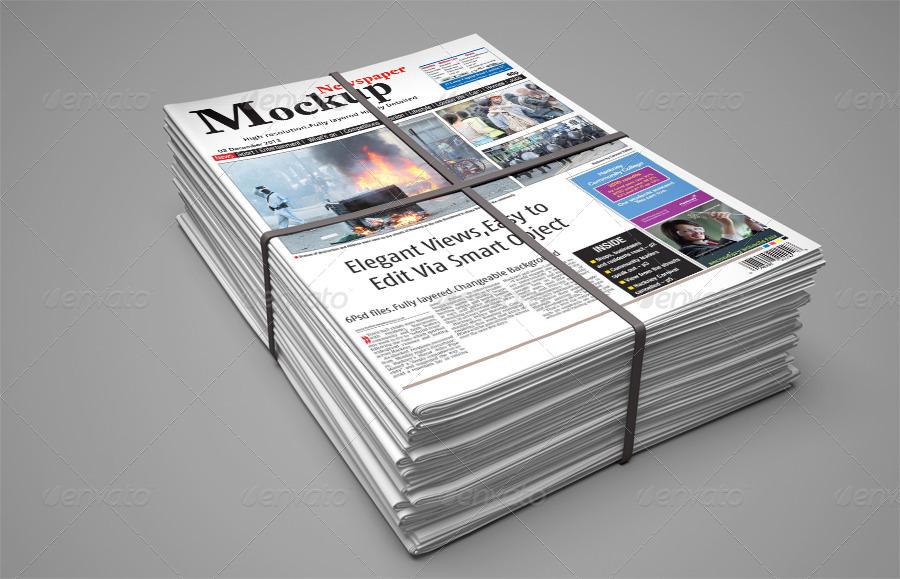 Newspaper Advertising Bundle Mockup Design