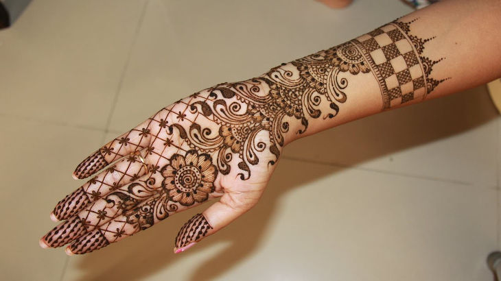 full hand bridal henna design