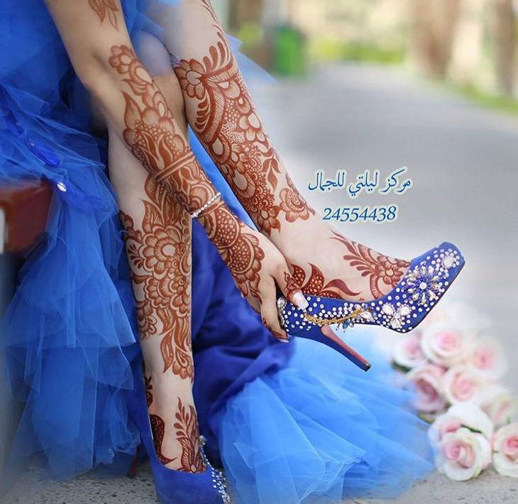 mehandi design for both legs