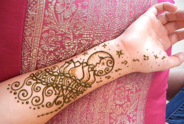 Birthday Henna Design