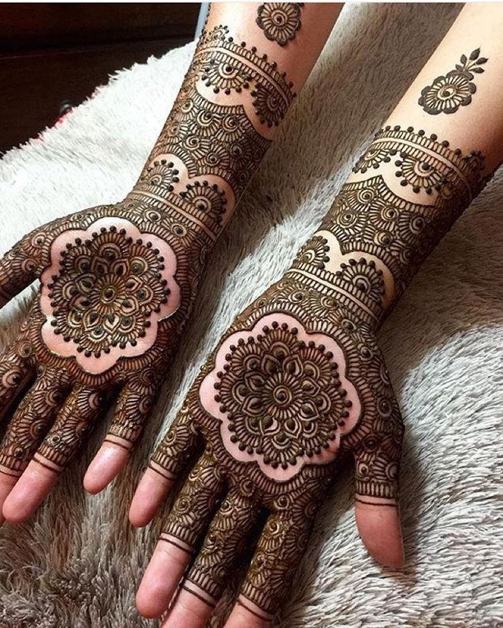 cultural henna design for both hands