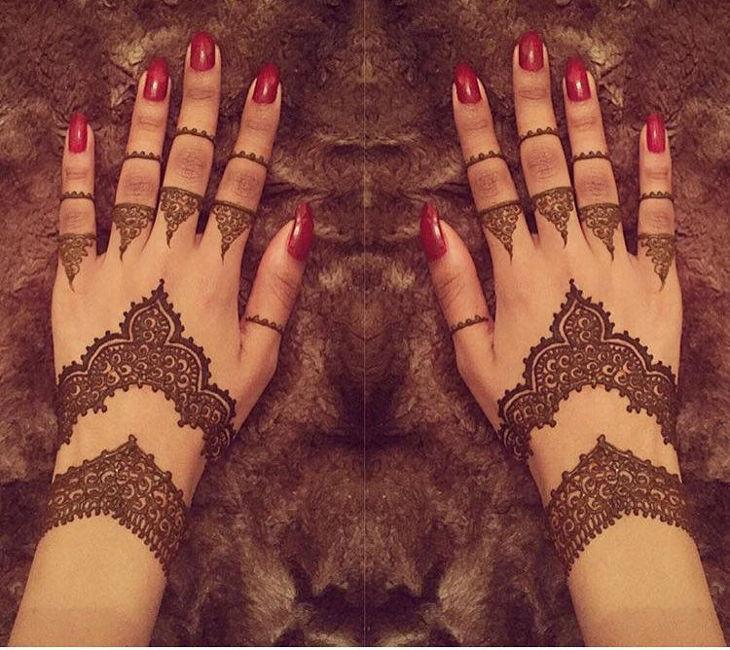 Back Hand Arabic Mehandi