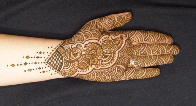 Floral Mehandi Peacock Design