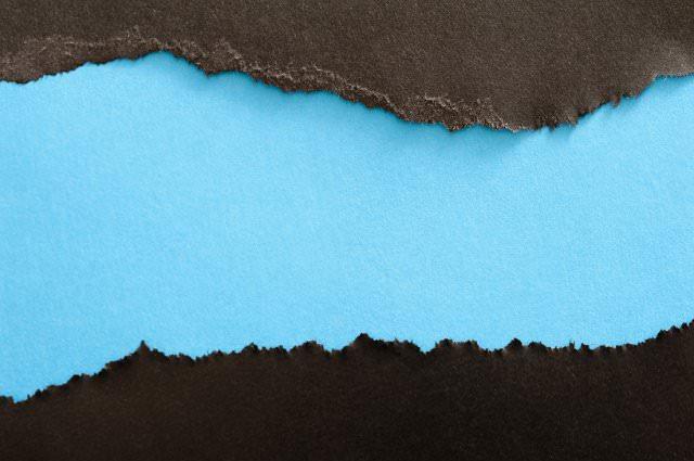 blue paper torn background