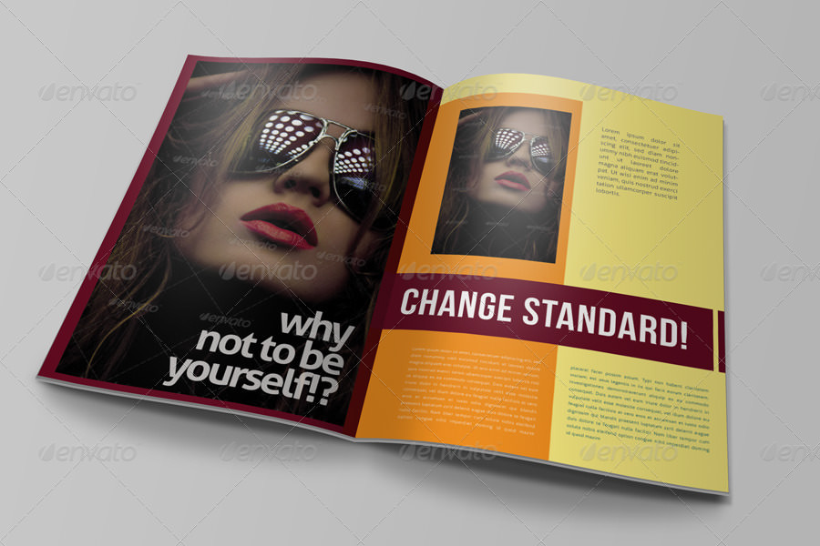 Sample Magazine Advertising Mockup Ideas