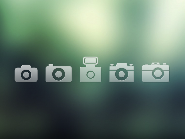 Set of Camera Icons Download