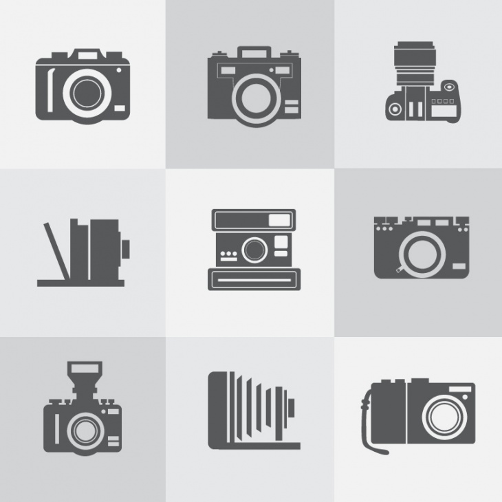 Vintage Camera Icons Set