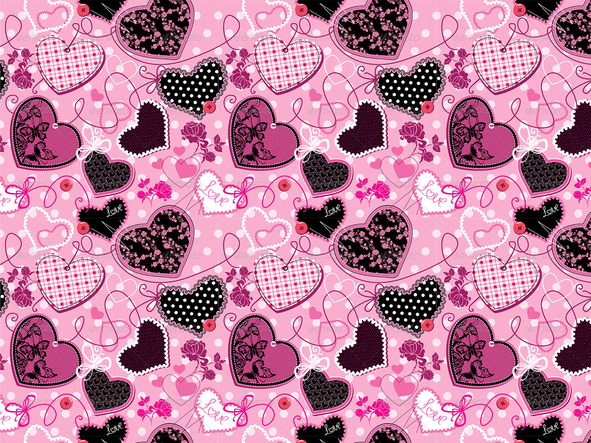 pink and black pattern