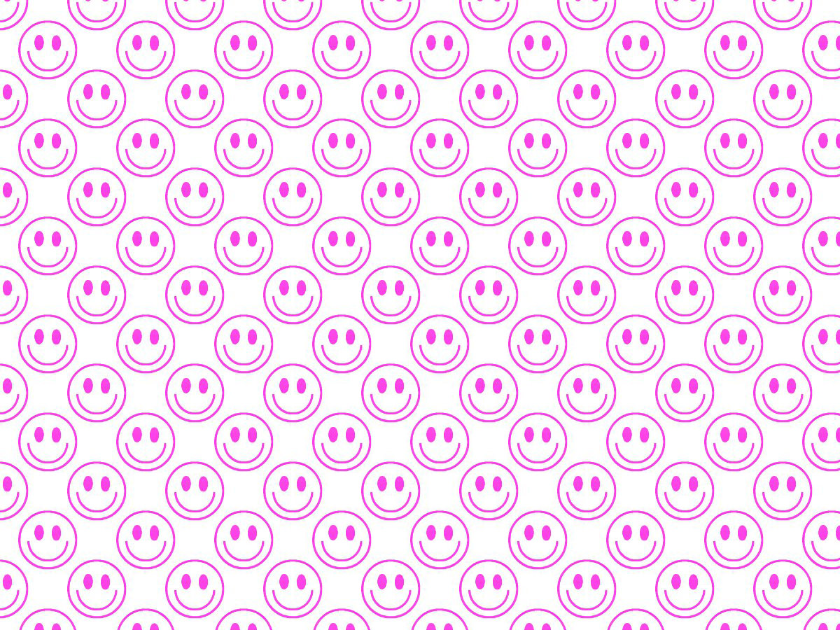 pink smiley pattern