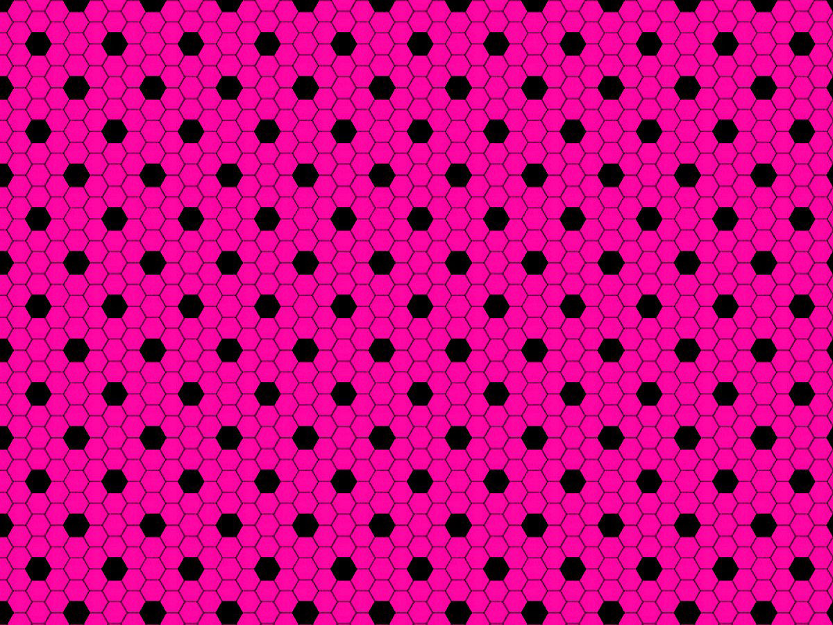Pink-and-Black-Hexagon-Tile Patterns